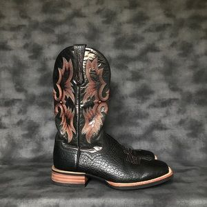 Ariat Men's Tombstone Black Square Toe Boots